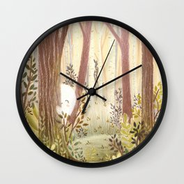 Little ghost in the woods Wall Clock