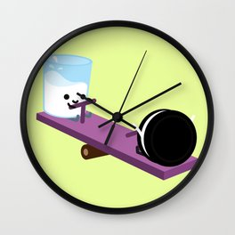 Milk and Cookie - Seesaw Wall Clock