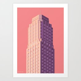 San Francisco Towers - 04 - Central Tower (sunset version) Art Print