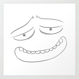 A Good Face that Loves You Art Print