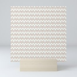 Diamonds and Pointy Lines (Patterns Please) Mini Art Print