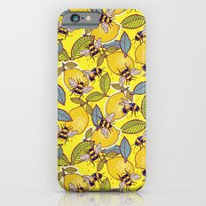 Yellow lemon and bee garden. Slim Case iPhone 6