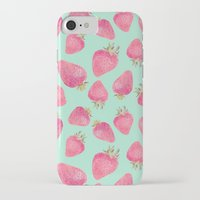 strawberry iPhone & iPod Cases featuring Strawberry  by Marta Olga Klara