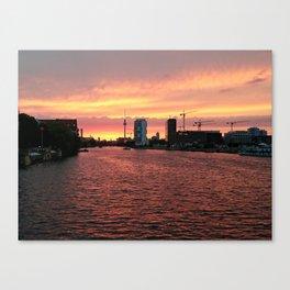 Spree Sunset I Canvas Print