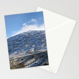 The Drive to Cardrona Ski Fields from Queenstown, New Zealand Stationery Cards