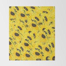 sunflower pattern 2018 1 Throw Blanket