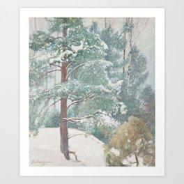 PEKKA HALONEN, WINTER LANDSCAPE. 4 Art Print