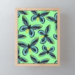 Queen Alexandra' s birdwing butterfly pattern Framed Mini Art Print