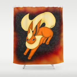 Flames of fire Shower Curtain