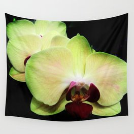 Green Orchids Wall Tapestry