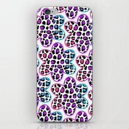 Rainbow Leopard Flower iPhone Skin
