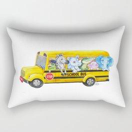 Animal SchoolBus Rectangular Pillow
