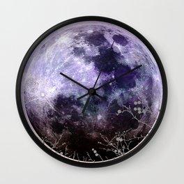 MOON under MAGIC SKY VII-1 Wall Clock