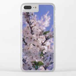 Sour Cherry Tree Blue Sky Clear iPhone Case