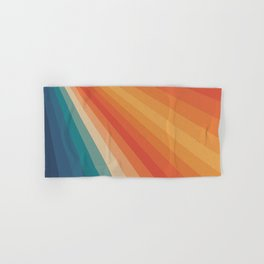 Retro 70s Sunrays Hand & Bath Towel