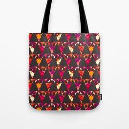 Vibrant triangles Tote Bag