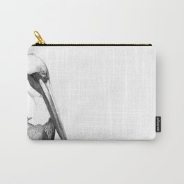 Black and White Pelican Carry-All Pouch