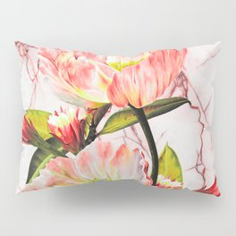 Flowering on pink marble Pillow Sham