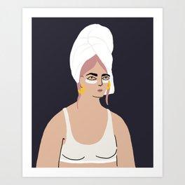 beauty routine Art Print