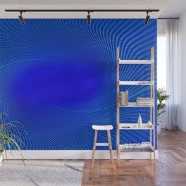Electric Blue Swirl Wall Mural