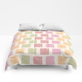 Square pattern 01 Comforters