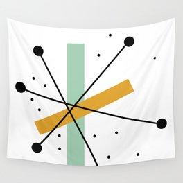 Retro Minimalist Mid Century Modern Pattern Design Wall Tapestry
