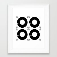 records Framed Art Prints featuring Records by Derek Delacroix