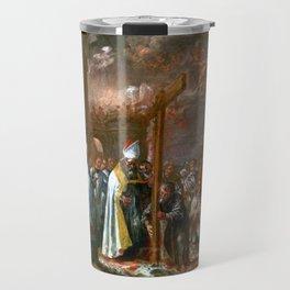 Juan de Valdés Leal The Exaltation of the Cross Travel Mug