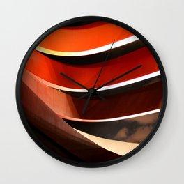 Ornage Curves Wall Clock