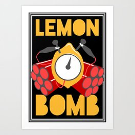 Lemon Bomb Art Print