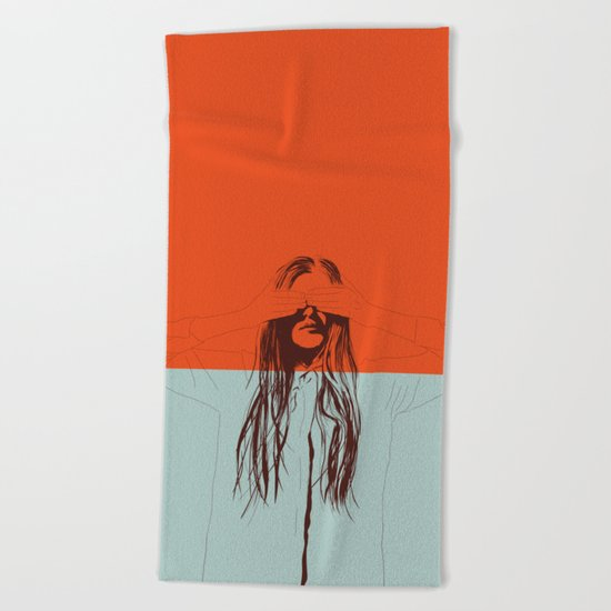 Woman Color 2 Beach Towel