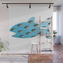 Fishy Outline Wall Mural