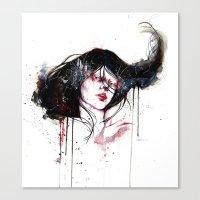 burlesque Canvas Prints featuring Burlesque by Chelsea Brouillette