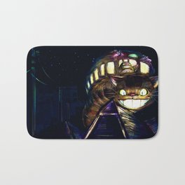 Cat Bus is In Your Town! Miyazaki Tribute Digital Fan Painting Bath Mat