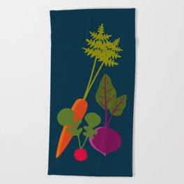 Vegetable Medley Beach Towel