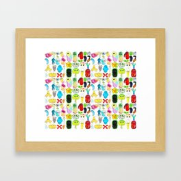 Rainbow Microbes Framed Art Print