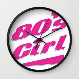 Maedchen der 80er Wall Clock