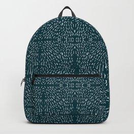 Celestial Stars Art, Teal Green, Boho Wall Art Backpack