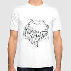 Poetic Bear MEDIUM Mens Fitted Tee White