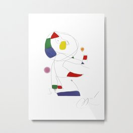 Joan Miro, Hommage a San Lazzaro 1977 Artwork for Wall Art, Prints, Posters, Tshirts, Men, Women, Youth Metal Print