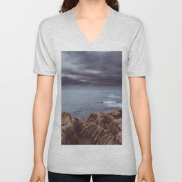 Sunset Cliffs Storm Unisex V-Neck
