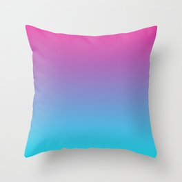 Cotton Candy Gradient Throw Pillow