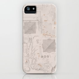 Vintage Map of The Pyramids of Giza (1856) iPhone Case