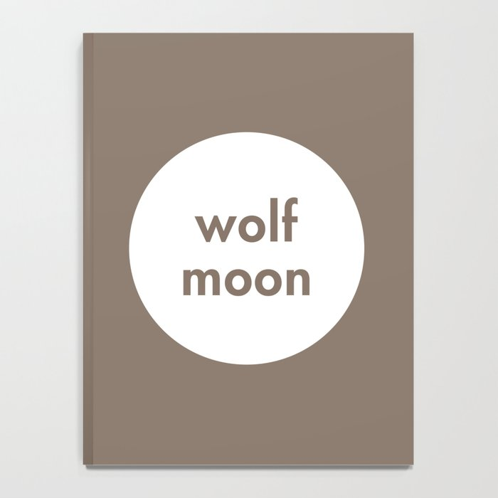 Wolf Moon Notebook