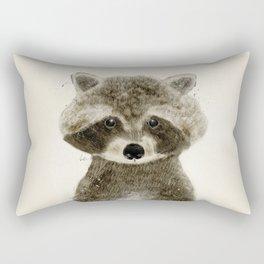 little raccoon Rectangular Pillow