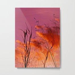 Sundown Silhouettes Metal Print