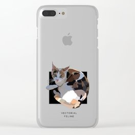 Vectorial Feline Clear iPhone Case