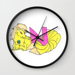 N is for Ninetails Wall Clock
