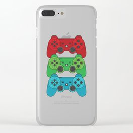 RGB Controllers Clear iPhone Case