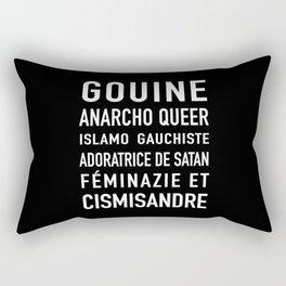 Gouine anarcho queer islamo-gauchiste féminazie et cismisandre Rectangular Pillow